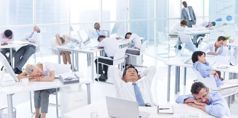 Group of Business People Sleeping in the Office
